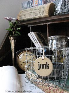 DIY wire basket -- actually looks really easy to do!