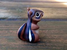 Chipmunk: Handmade miniature polymer clay animal por AnimalitoClay