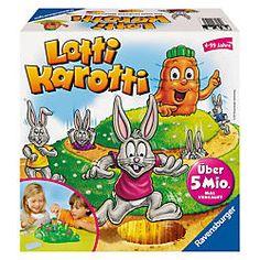 """Kennt Ihr """"Lotti Karotti"""" von Ravensburger? Bei diesem lustigen Kinderspiel laufen die Hasen um die Wette. Passt nicht nur für einen Spielenachmittag zu #Ostern."""