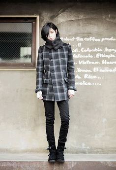 Go Sang Gil Androgynous Fashion, Tomboy Fashion, Gothic Fashion, Asian Fashion, Fashion Models, Mens Fashion, Fashion Outfits, Male Clothes, Good Looking Men