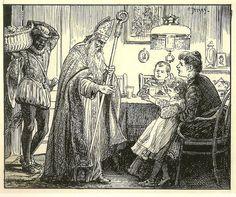 Sinterklaas & Pieterbaas op bezoek, Cornelis Jetses 1873-1955
