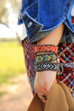 PONY EXPRESS WOVEN BRACELETS - Junk GYpSy co.