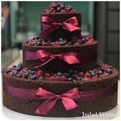 Triffel de chocolate con frutos rojos