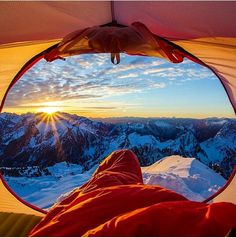 Wake up in a tent on some mountain n watch the sun rise #bucketlist