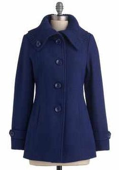 Beautiful blue wool coat from mod cloth $67-free shipping