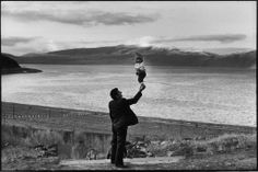 "Henri Cartier-Bresson ""Soviet Union. Armenia. Visitors at village on the Lake Sevan."" (1972)"