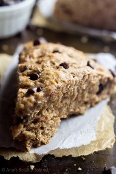 Clean Chocolate Chip Banana Bread Scones