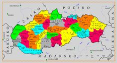 Map of tourism regions of Slovakia Ny Life, Message Of Hope, Spiritual Teachers, Vietnam Travel, Kenya, Tourism, Blog, Genealogy, Mesto
