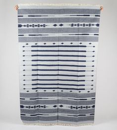 Tribal Blue Area Rug in New Design 4 x 6 Feet