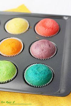 How to Make Rainbow Cupcakes   Kim Byers, TheCelebrationShoppe.com
