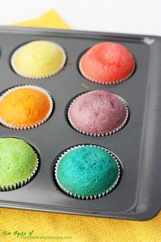 How to Make Rainbow Cupcakes | Kim Byers, TheCelebrationShoppe.com