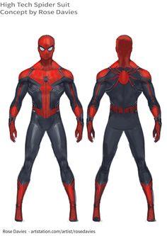 ArtStation - High-Tech Spider Suit, Rose Davies