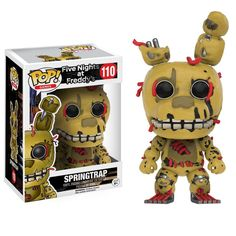 This is a Funko Five Nights At Freddy's POP Springtrap Vinyl Figure that's produced by the nice folks over at Funko. Springtrap looks awesome in his Funko POP Vinyl style. Neat for any fan of Five Nig