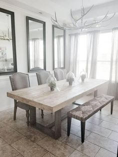 Here are the Rustic Farmhouse Dining Room Design Ideas. This article about Rustic Farmhouse Dining Room Design Ideas was posted under the Dining Room category by our team at August 2019 at am. Hope you enjoy it and . Dining Room Design, Dining Room Furniture, Farmhouse Style Dining Room, Rustic Dining Room, Dining Room Small, Home Decor, Farmhouse Dining Rooms Decor, Modern Dining Room, Dining Table