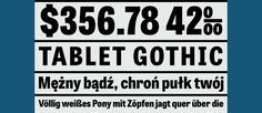 Enjoy the summer with one of our freebies: Tablet Gothic SemiCondensed Extrabold. Just add the code ba9daa9d in the checkout and download the font for free.