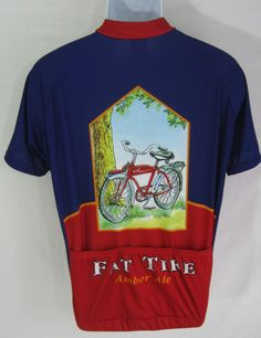 Fat Tire New Belgium Brewery CO. Voler MENS Cycling JERSEY LARGE Nice abba41e7c