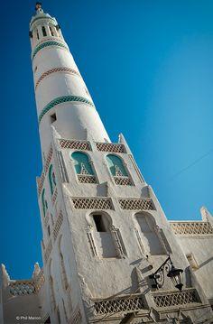 Mosque minaret - Sayun, Yemen