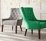Hayes Tufted Upholstered Armchair