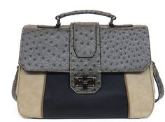 Danielle Nicole's London Satchel in grey combo