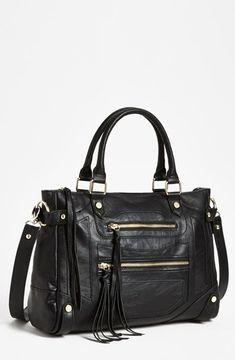 Steve Madden 'Talia' Satchel Black on shopstyle.com