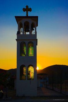 Bell tower in #Toroni at dawn (The Church of Saint Athanasios) / #Sithonia #dawn