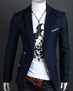 Men's Casual Pocket Blazer with Front Pockets | Pinterest for Men ...