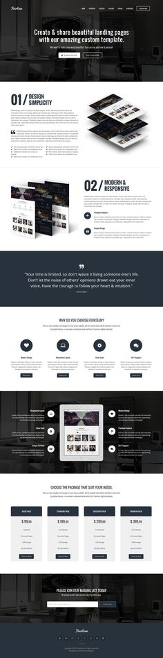 Fourteen – Responsive Landing Page WP Theme #design #wp