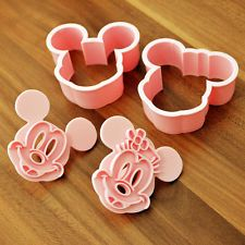 Micky And Minnie Mouse Cookie Cutters Sugarcraft Cake Decorating Tools Shaper