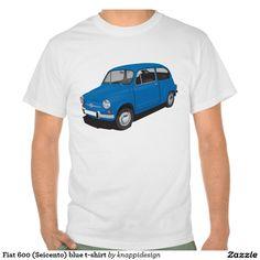 Fiat 600 (Seicento) blue t-shirt  Fiat 600 (Seicento) black t-shirt  #fiat #fiat600 #seicento #tshirt #tshirts #tpaita #troja #skjorta #italy #automobile #bilar #auto #classic #vintage