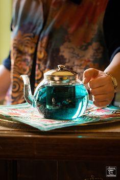 blue Gin And Tonic, Matcha, Kettle, Purple, Blue, Tea Pots, Magic, Drinks, Tableware