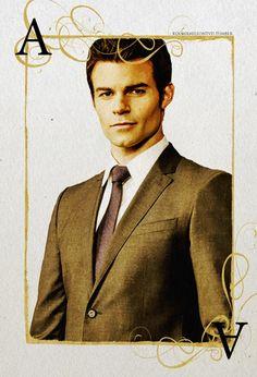 """The Originals"" Cards - Fan Art of Elijah (Daniel Gillies). I like how this fan artist gave Elijah the ace..."