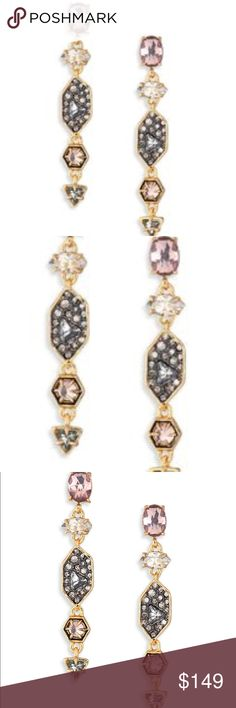 COMING SOON Alexis Bittar Delphian Earrings Tourmaline and crystal drop earrings in like new condition. Sold out style. More pics and details coming soon. Check out my listing for matching necklace. Alexis Bittar Jewelry Earrings