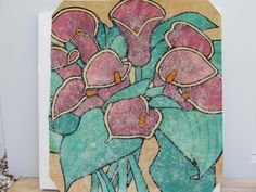 Abstract Painting Of A Group Of Calla Lilies by FLORIDAMODERN on Etsy