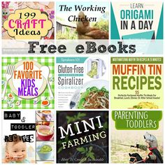 FREE EBOOKS: 199 Craft Ideas, Learn Origami In A DAY, Master the Daily Battles of Parenting Toddlers, + More!