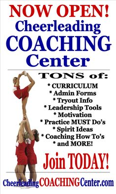 Are you a Cheerleading Coach or Cheer Mom that would LOVE some help with your Cheerleading Season? You MUST check out CheerleadingCoachingCenter.com for all of your coaching needs! :-)
