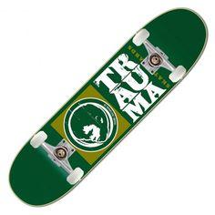 TRAUMA Skate Pack Full Logo green skateboard complet team serie 7.75 pouces 99,00 € #skate #skateboard #skateboarding #streetshop #skateshop @playskateshop