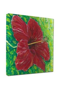 Hibiscus Gallery Wrapped Canvas Art
