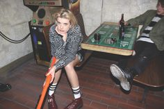 Agyness Deyn Dishes on Her Grungy Cool Clothing and Shoe Collection For Dr. Agyness Deyn, Alexa Chung Style, Pop Culture News, Fashion Shoes, Fashion Outfits, Shoe Collection, Dr. Martens, Street Style, Actresses
