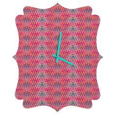 Ingrid Padilla Beauty Red Quatrefoil Clock | DENY Designs Home Accessories