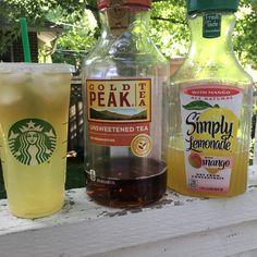 Healthy Starbucks Drinks, Secret Starbucks Drinks, Healthy Drinks, Starbucks Tea, Healthy Food, Healthy Plate, Refreshing Drinks, Summer Drinks, Fun Drinks