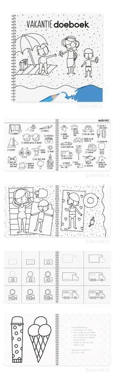 Ik ga op vakantie en ik neem mee... het #vakantiedoeboek natuurlijk! Een fijn boekje met kleurplaten, auto / strand / camping bingo, dingen om na te tekenen en natuurlijk raamtekeningen. Ideaal voor onderweg in de auto en regenachtige middagen, geschikt voor kinderen vanaf 4 jaar.