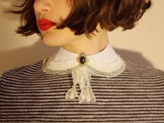 A personal favourite from my Etsy shop https://www.etsy.com/listing/268741787/vintage-peter-pan-collar-lace-button