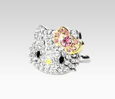 Hello Kitty Pink Rhinestone Ring: Gems  Item #30050 Sanrio.com $29.40