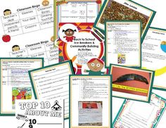 Flash FREEBIE Friday: Beginning of the School Year Ice Breakers and Community Building Activities One day only: 8/1/14!!! 85 pages of engaging lesson plans and activities from Astute Hoot.