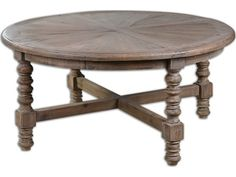 Uttermost Samuelle 42 Round Wooden Coffee Table