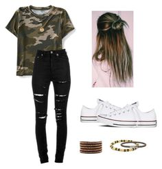 """""""top knot x"""" by kristennnb on Polyvore featuring Aéropostale, Yves Saint Laurent, Converse, Chico's and Chan Luu"""