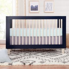 Lolly 3-in-1 Convertible Crib with Toddler Bed Conversion Kit - Project Nursery Nursery Modern, Nautical Nursery, Project Nursery, Nursery Ideas, Girl Nursery, Nursery Decor, Bed Rails, Convertible Crib, Baby Learning
