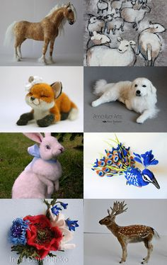 Incredible Needle Felted Animals by Emma Ehart on Etsy--Pinned with TreasuryPin.com