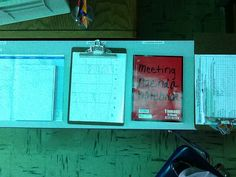 A paraprofessional stations that included a calendar to mark when people are… Life Skills Classroom, High School Classroom, Classroom Setup, School Fun, Classroom Organization, Classroom Management, School Ideas, Special Education Organization, Special Education Classroom