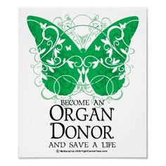 April is 'Organ and Tissue Donation Awareness' Month :) Please become a donor!!
